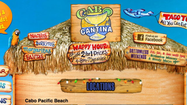 Cabo Cantina Pacific Beach Happy Hour Specials